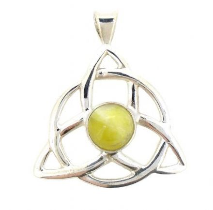 Scottish Green Marble Celtic Triquetra Pendant HP6